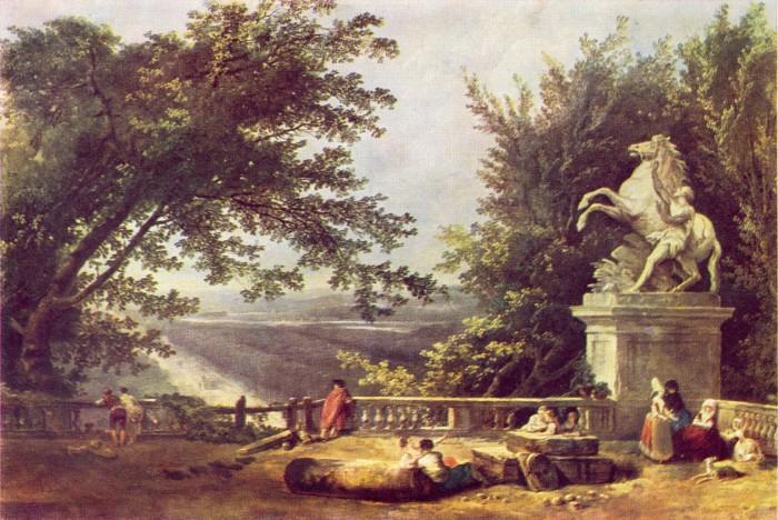 Развалины террасы в парке