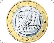 Монета 1 евро Греция