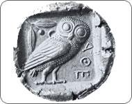 Старая афинская монета