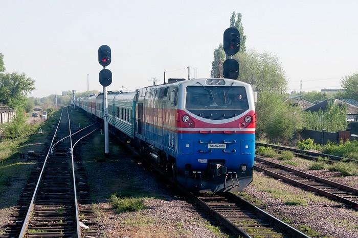Поезд на Турксибе