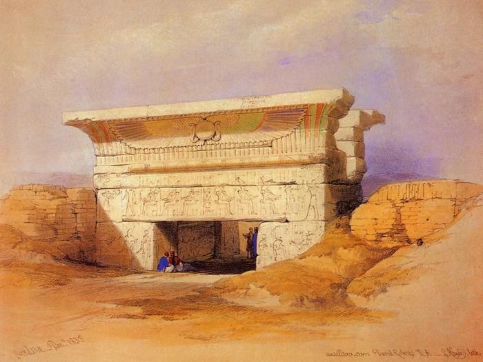 Цветные развалины в Египте