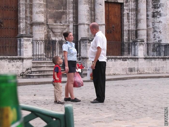 Семья кубинцев