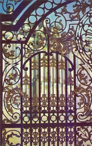 Решетка боковых ворот