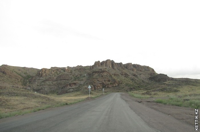 Перевал перед Талдыкурганом