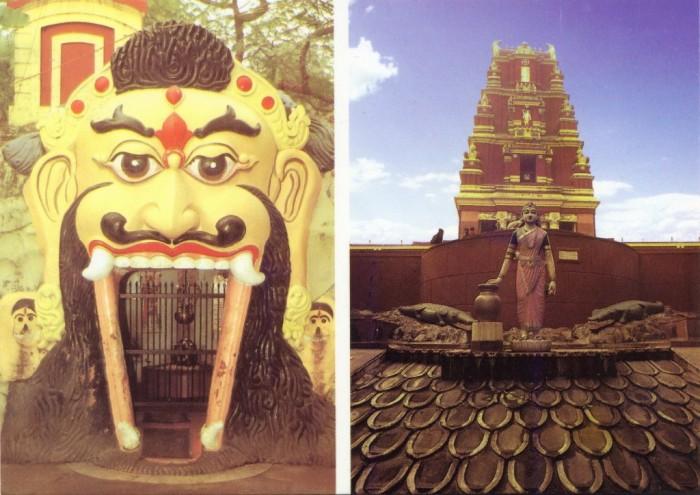 Шив Линг (Гупха) и Храм Бирла сзади