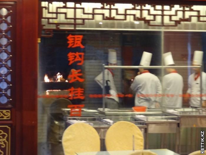 Кухня в китайском ресторане