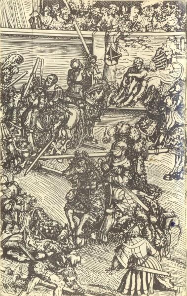 Гравюра рыцарский турнир