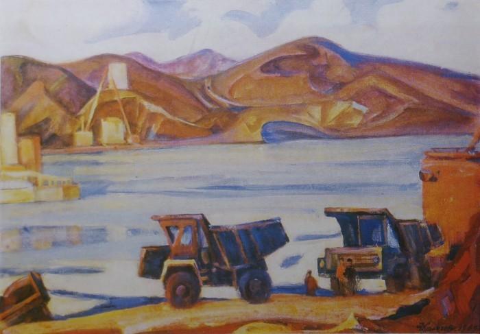Стройка на реке Или