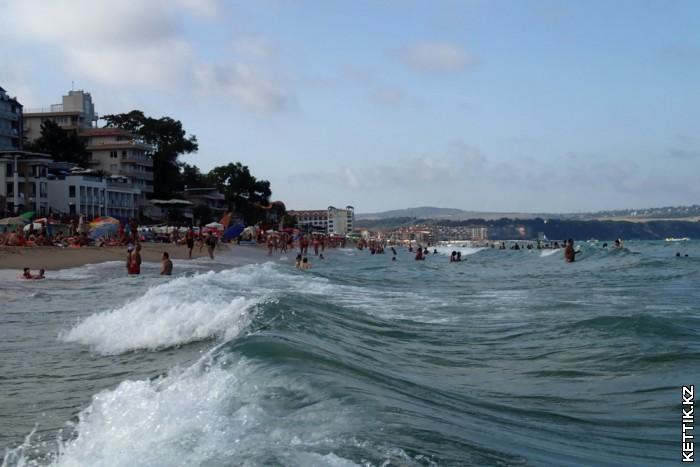 Пляж города Обзор