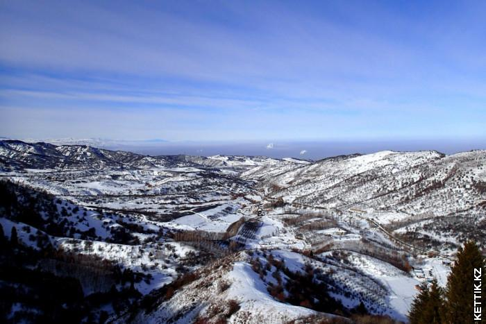 Вид на Алма-Ату