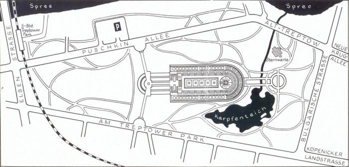 План Трептов-парк