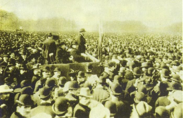 Демонстрации немецких рабочих