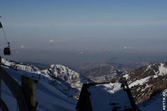 Вид на Алматы с перевала